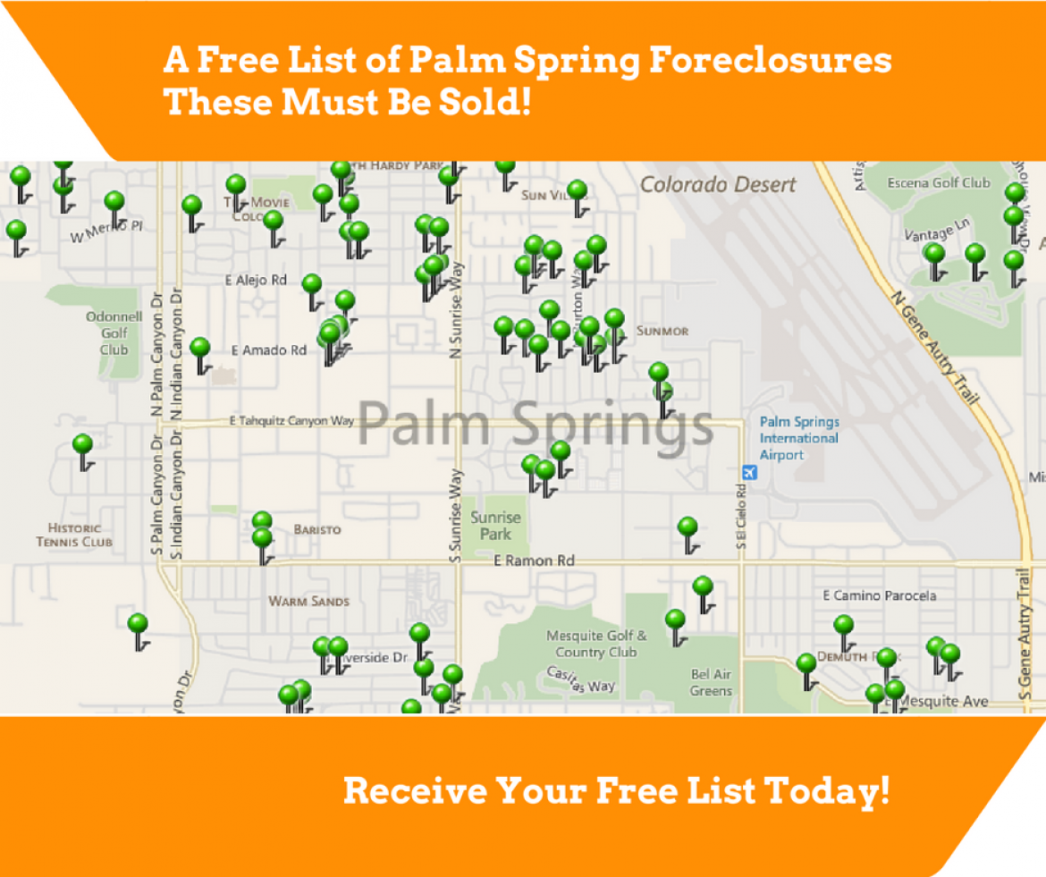 Free List Of Palm Springs Area Foreclosures